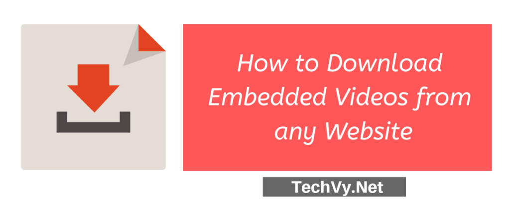 download embedded videos